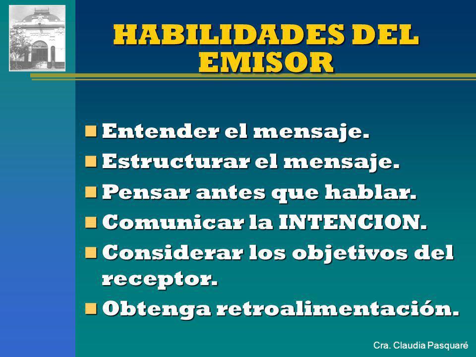 HABILIDADES DEL EMISOR