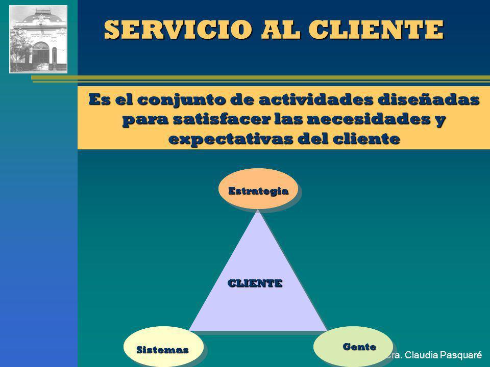 SERVICIO AL CLIENTE Es el conjunto de actividades diseñadas para satisfacer las necesidades y expectativas del cliente.
