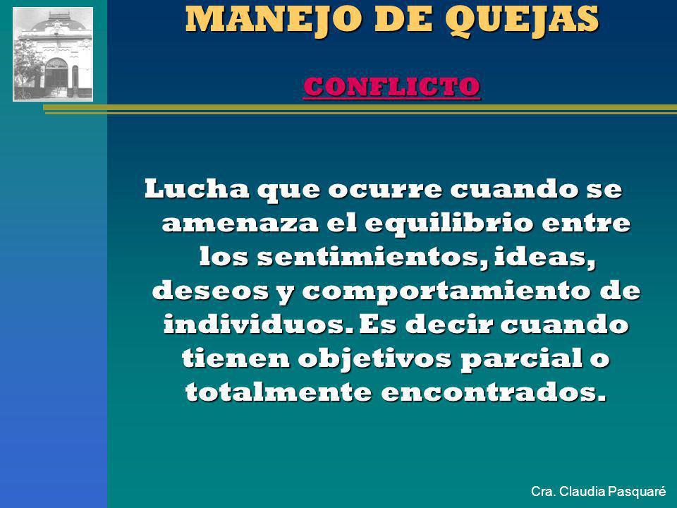 MANEJO DE QUEJAS CONFLICTO
