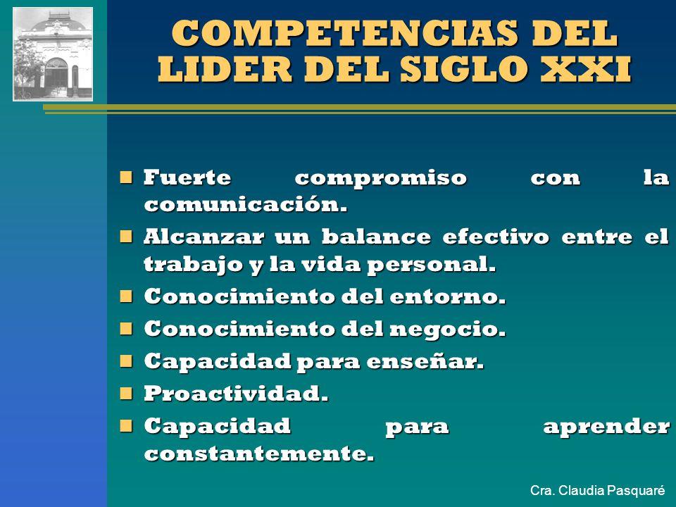 COMPETENCIAS DEL LIDER DEL SIGLO XXI
