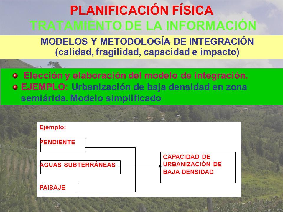 PLANIFICACIÓN FÍSICA TRATAMIENTO DE LA INFORMACIÓN