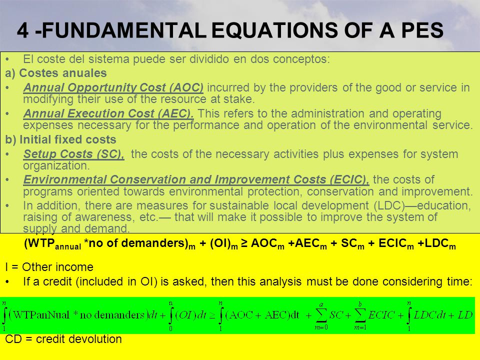 4 -FUNDAMENTAL EQUATIONS OF A PES