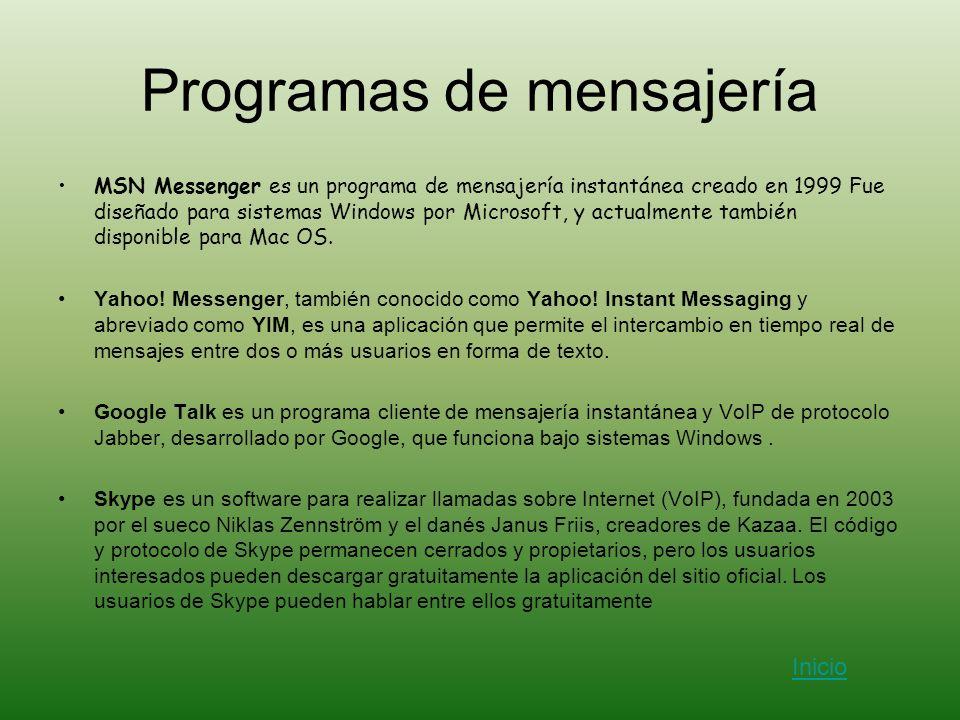 Programas de mensajería
