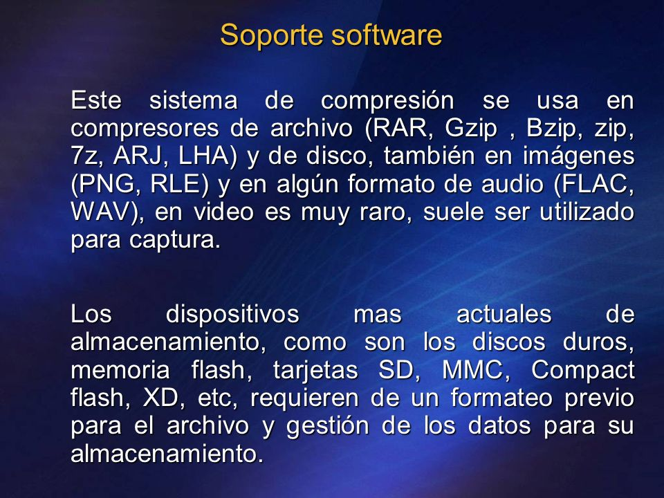 Soporte software