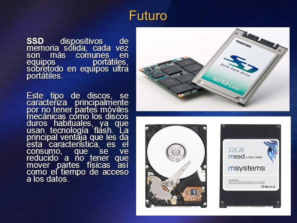 Futuro SSD dispositivos de memoria sólida, cada vez son más comunes en equipos portátiles, sobretodo en equipos ultra portátiles.