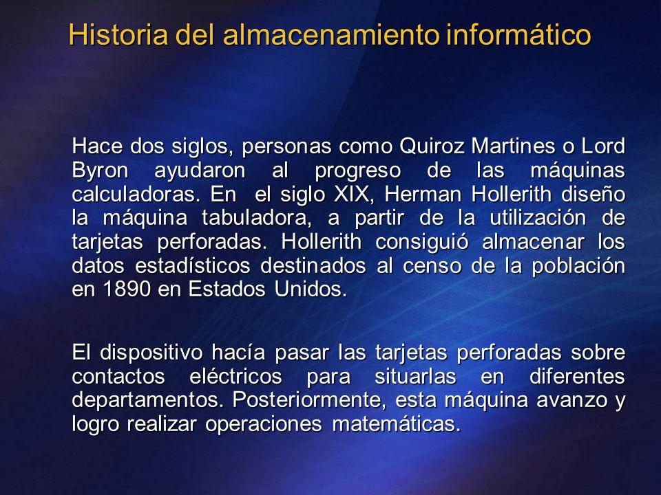 Historia del almacenamiento informático