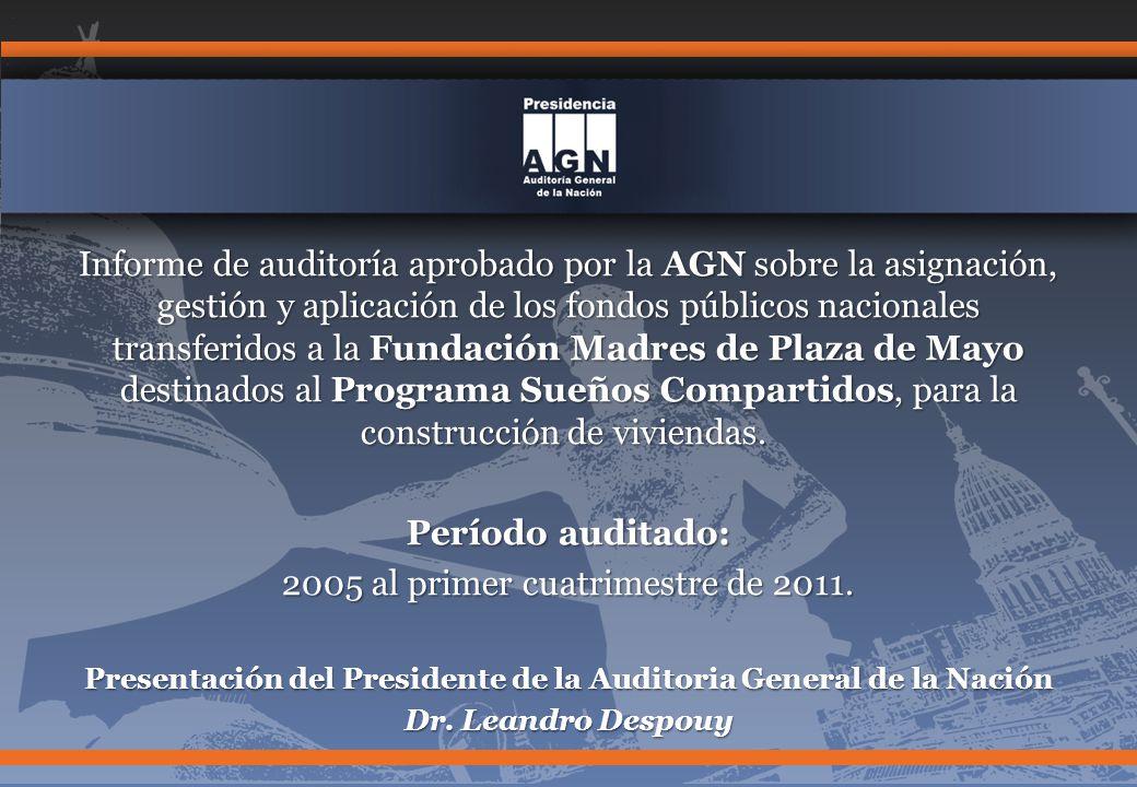 Presentación del Presidente de la Auditoria General de la Nación