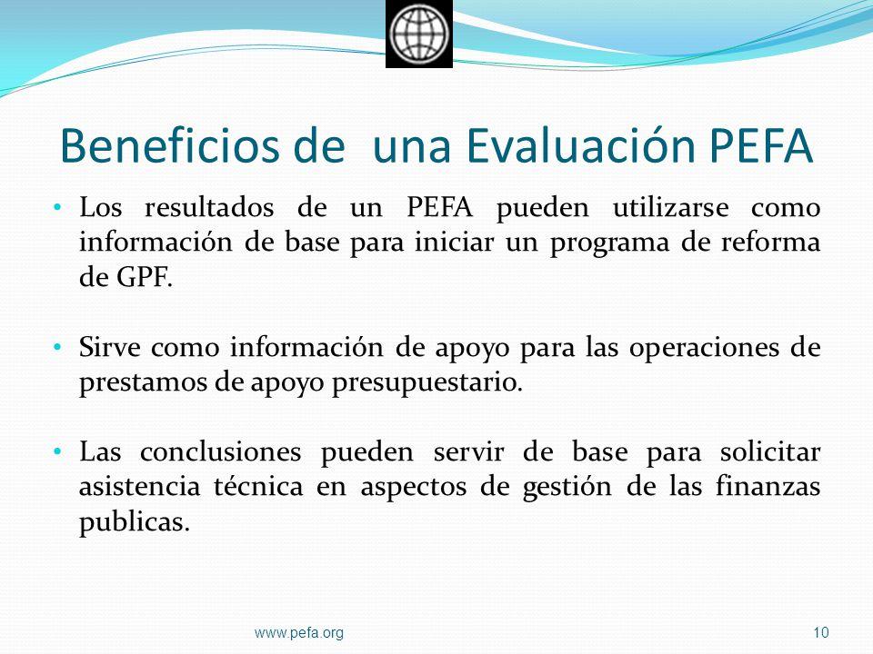 Beneficios de una Evaluación PEFA