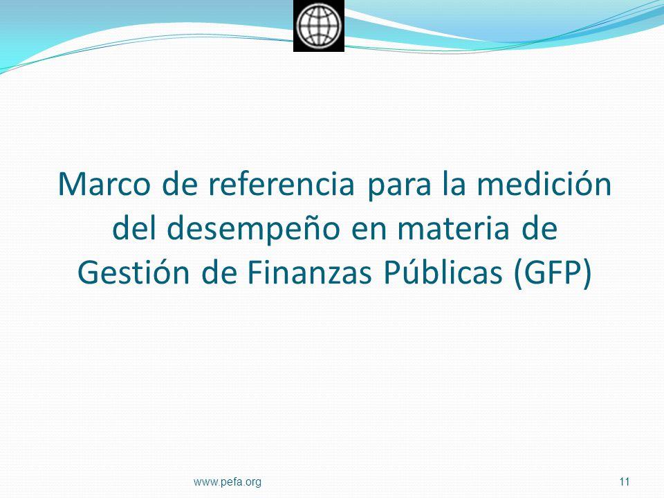 Marco de referencia para la medición del desempeño en materia de Gestión de Finanzas Públicas (GFP)