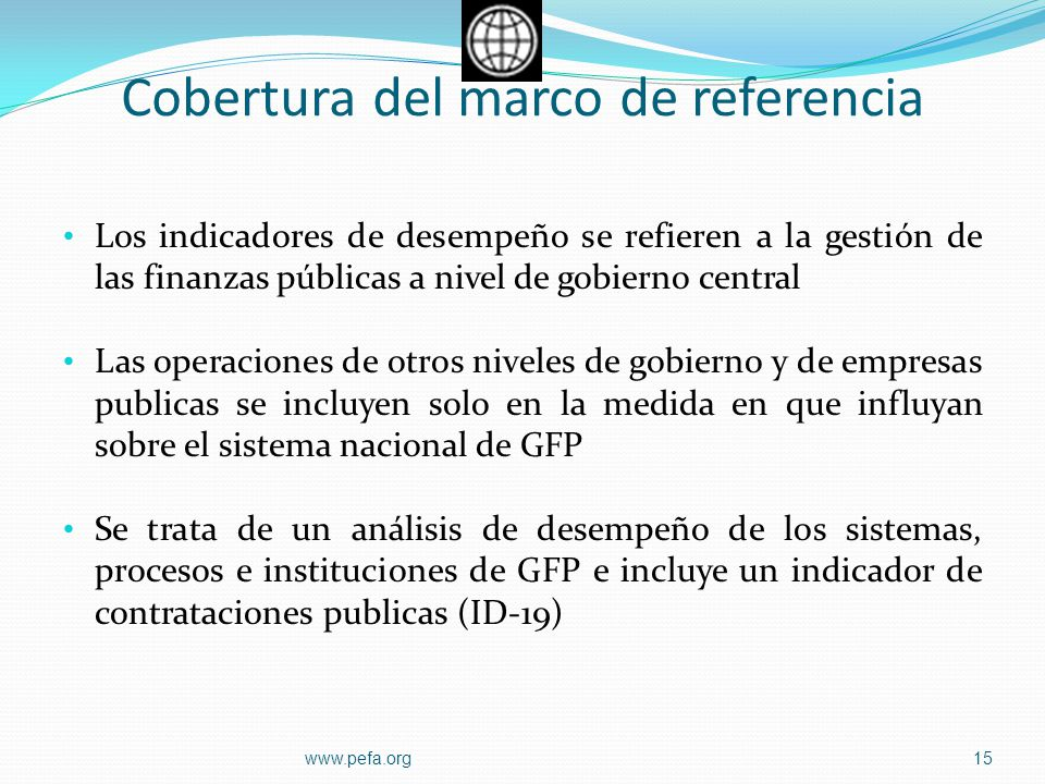 Cobertura del marco de referencia