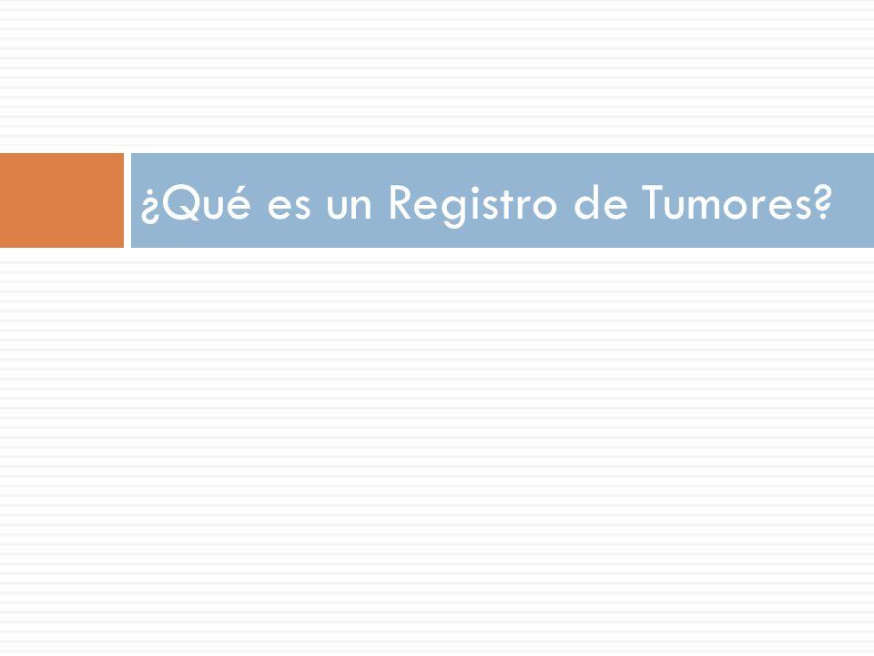 ¿Qué es un Registro de Tumores