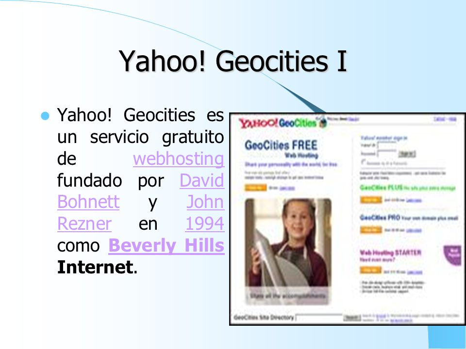 Yahoo! Geocities I