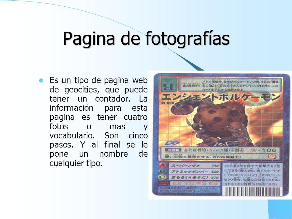 Pagina de fotografías