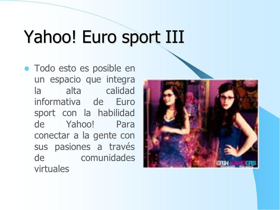 Yahoo! Euro sport III