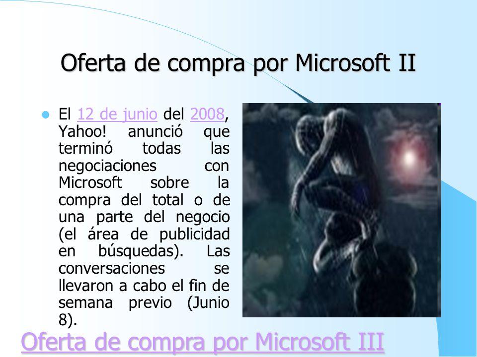 Oferta de compra por Microsoft II