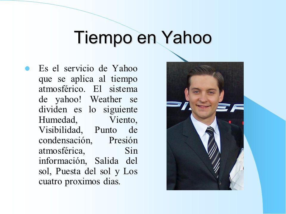 Tiempo en Yahoo
