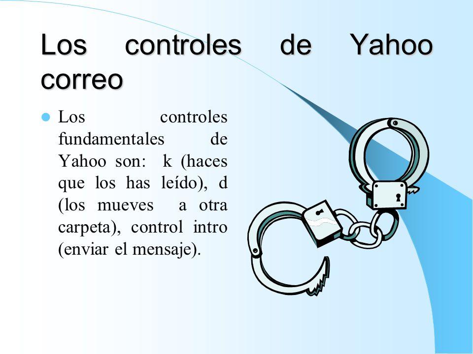 Los controles de Yahoo correo