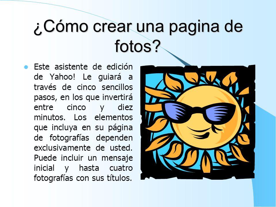 ¿Cómo crear una pagina de fotos