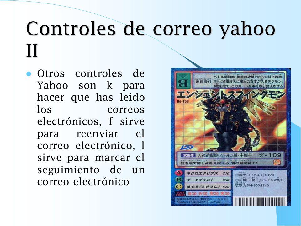 Controles de correo yahoo II