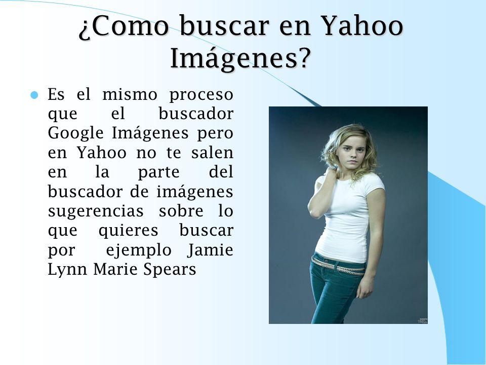 ¿Como buscar en Yahoo Imágenes
