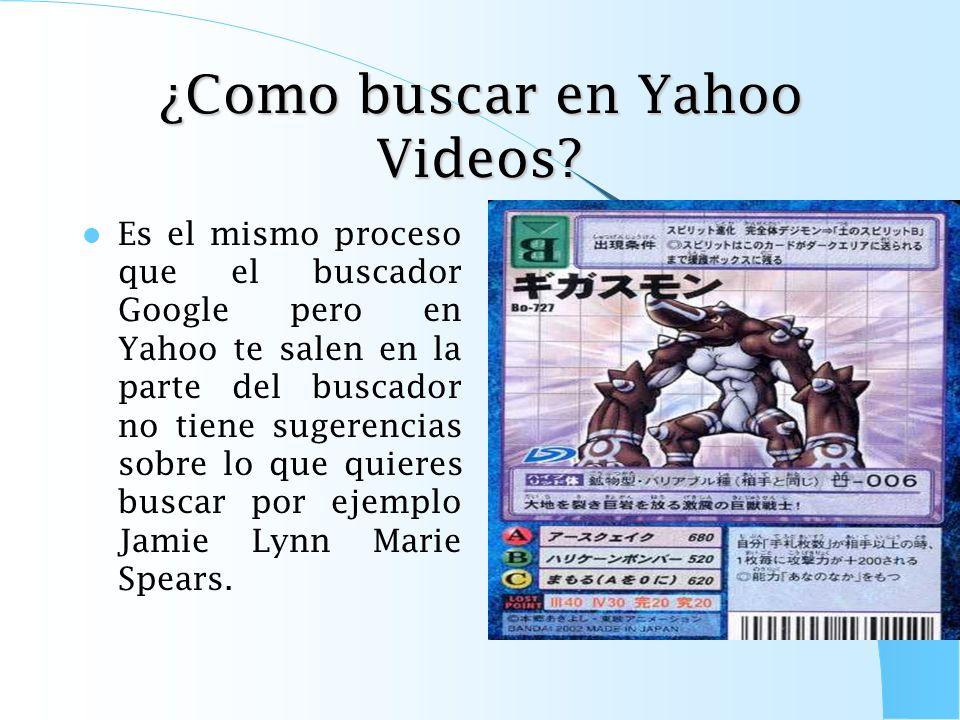 ¿Como buscar en Yahoo Videos