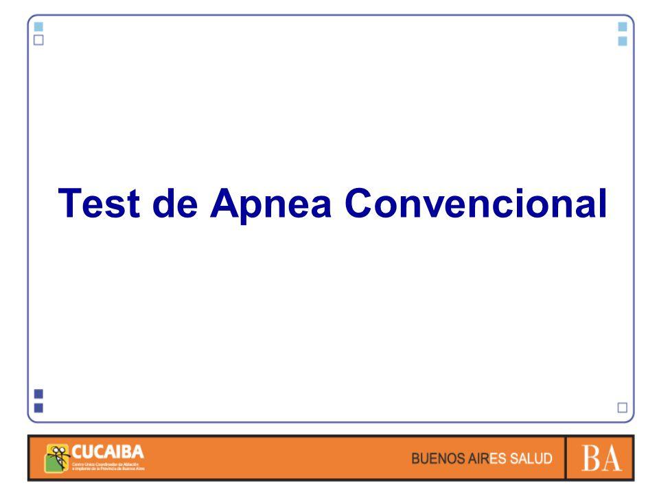 Test de Apnea Convencional