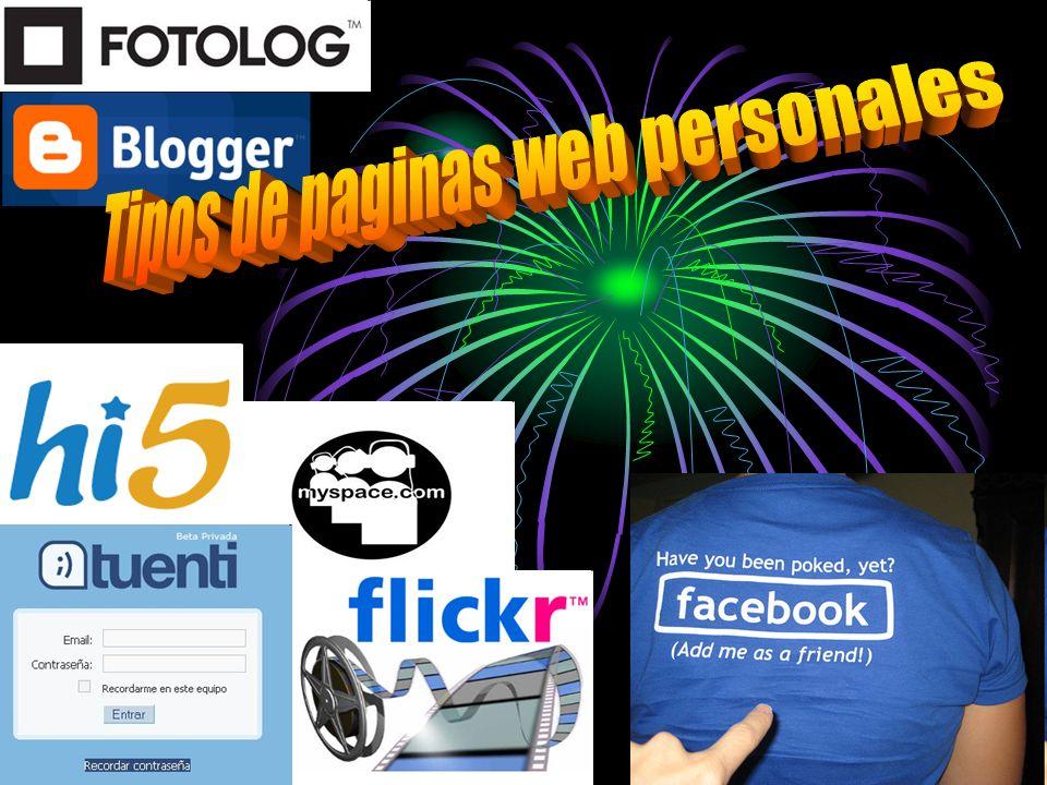 Tipos de paginas web personales