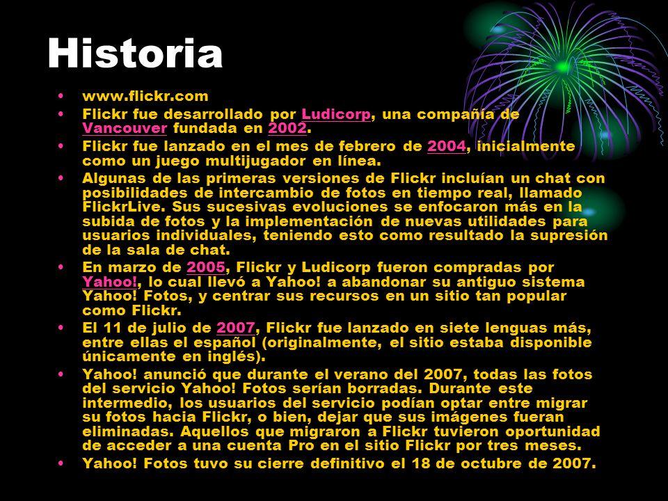 Historia www.flickr.com