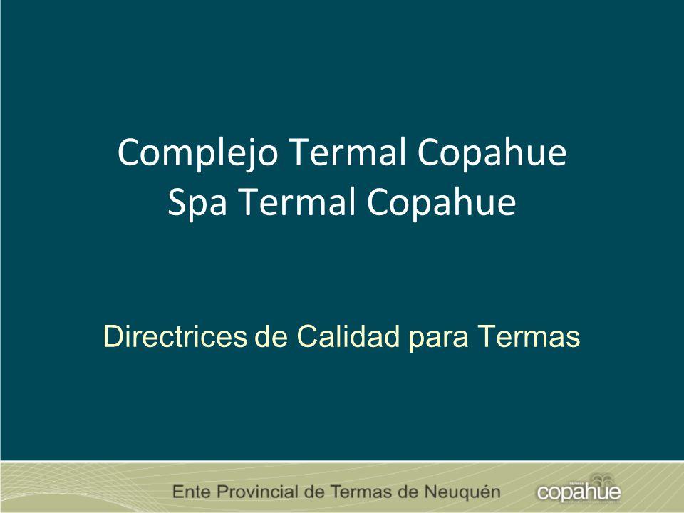 Complejo Termal Copahue Spa Termal Copahue Directrices de Calidad para Termas