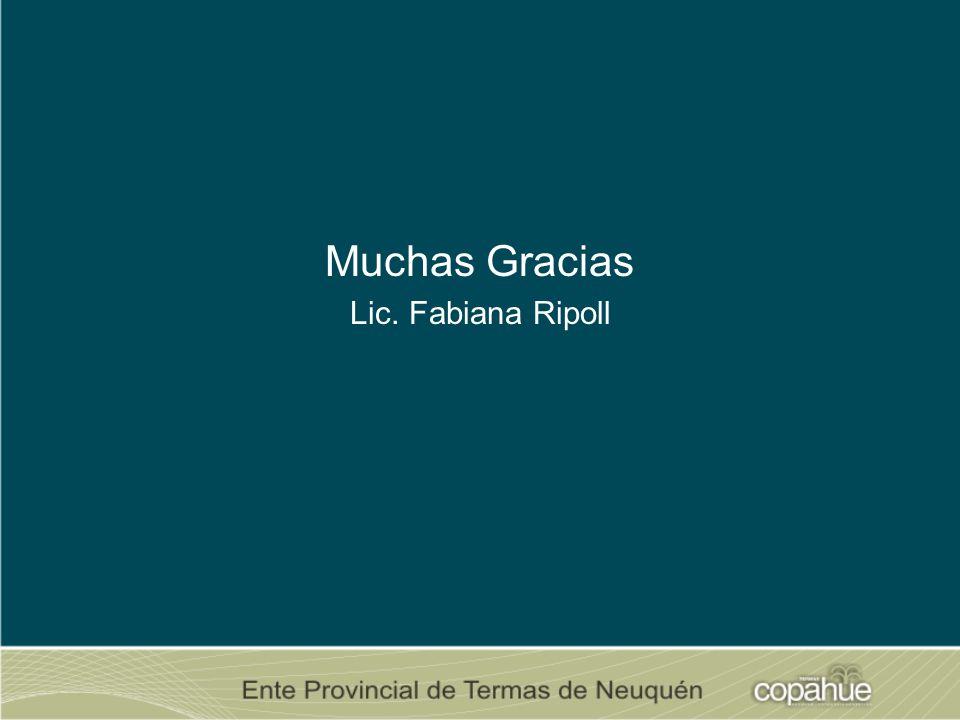 Muchas Gracias Lic. Fabiana Ripoll