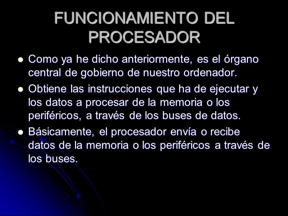 FUNCIONAMIENTO DEL PROCESADOR