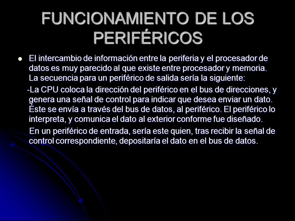 FUNCIONAMIENTO DE LOS PERIFÉRICOS