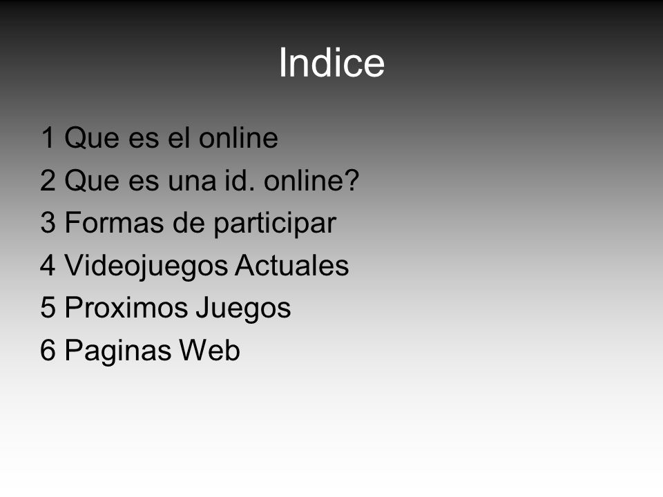 Indice 1 Que es el online 2 Que es una id. online