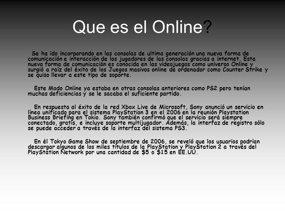 Que es el Online
