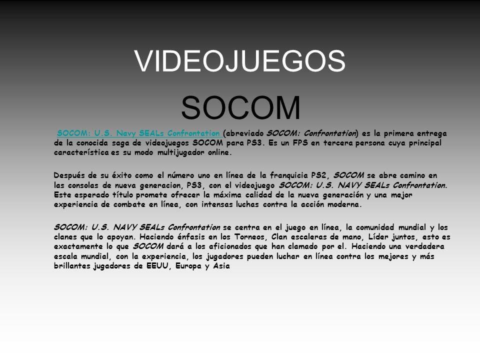 VIDEOJUEGOS SOCOM.