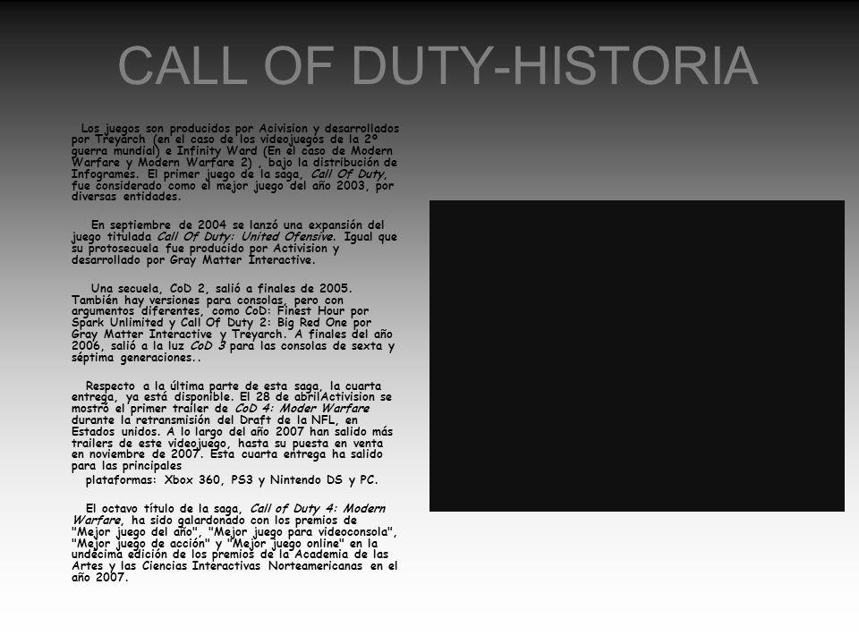 CALL OF DUTY-HISTORIA
