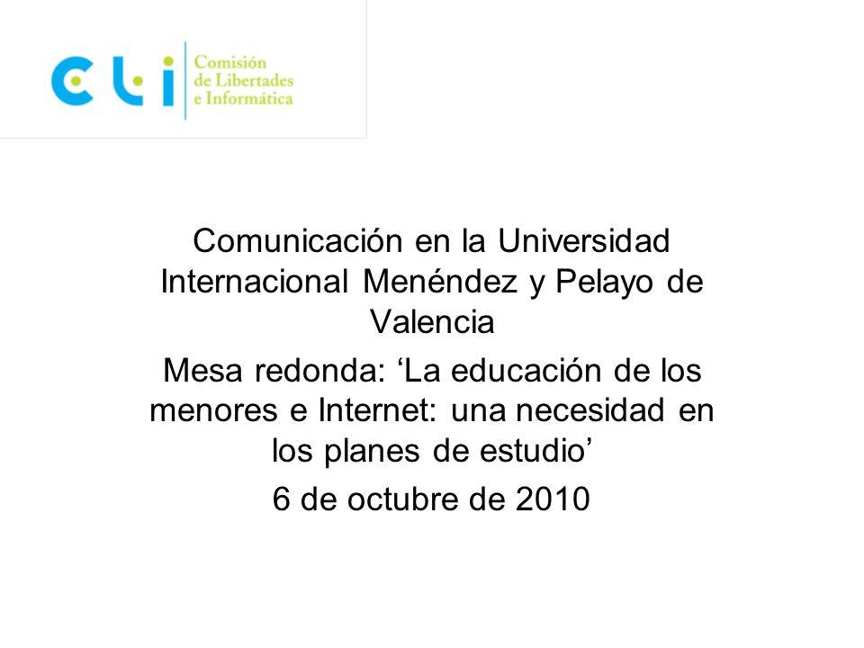 Comunicación en la Universidad Internacional Menéndez y Pelayo de Valencia