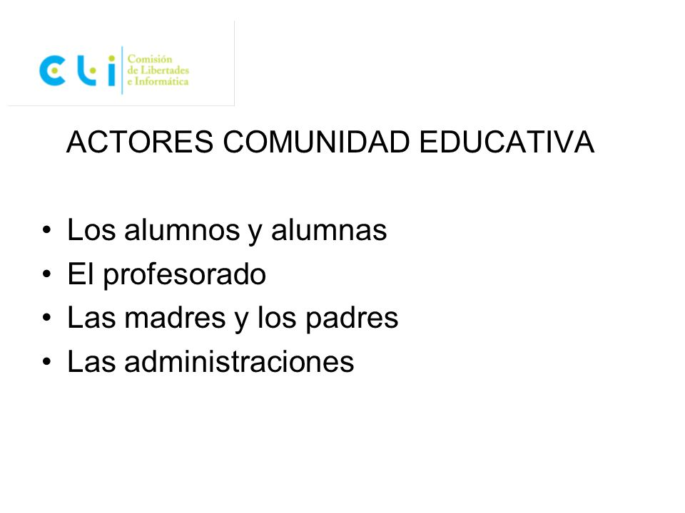 ACTORES COMUNIDAD EDUCATIVA