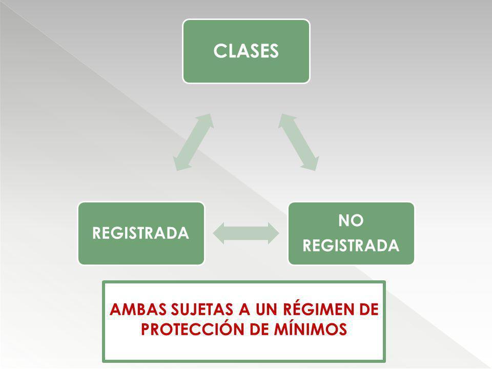 AMBAS SUJETAS A UN RÉGIMEN DE PROTECCIÓN DE MÍNIMOS