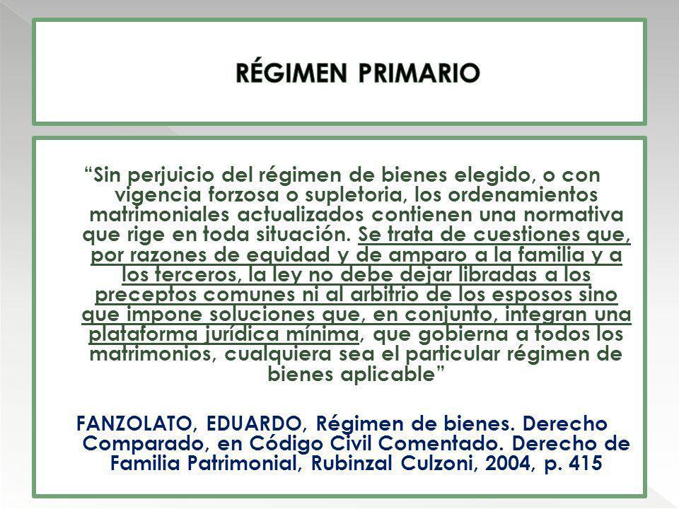 RÉGIMEN PRIMARIO
