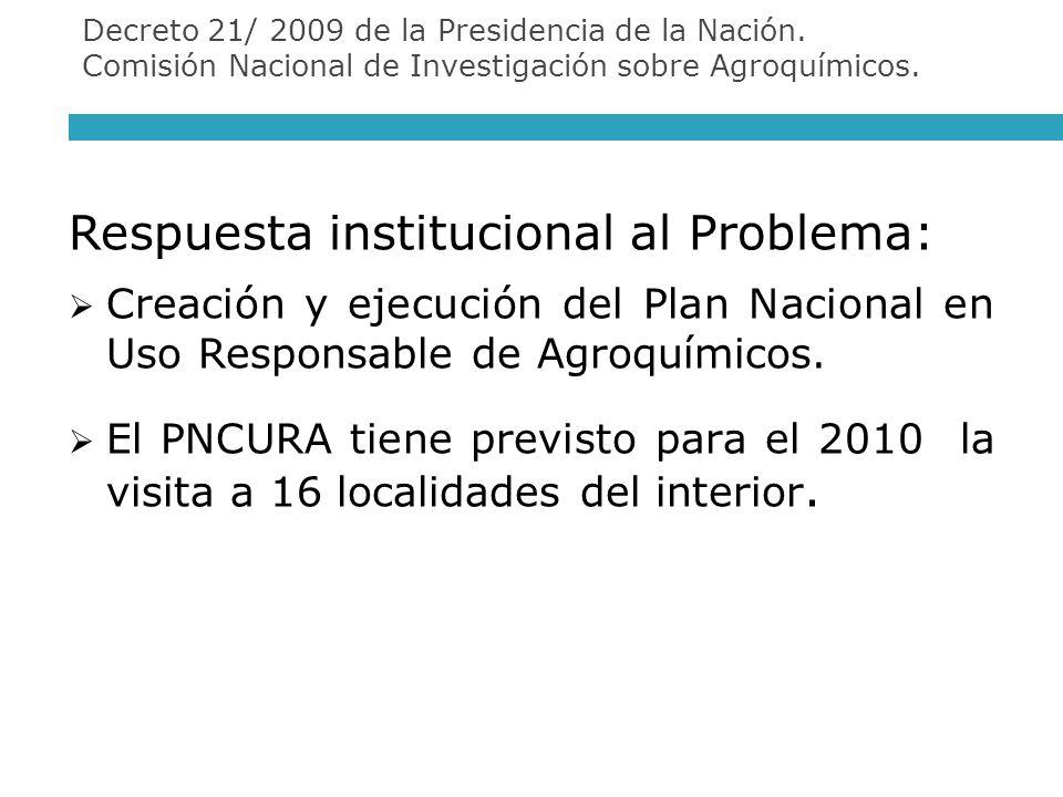 Respuesta institucional al Problema: