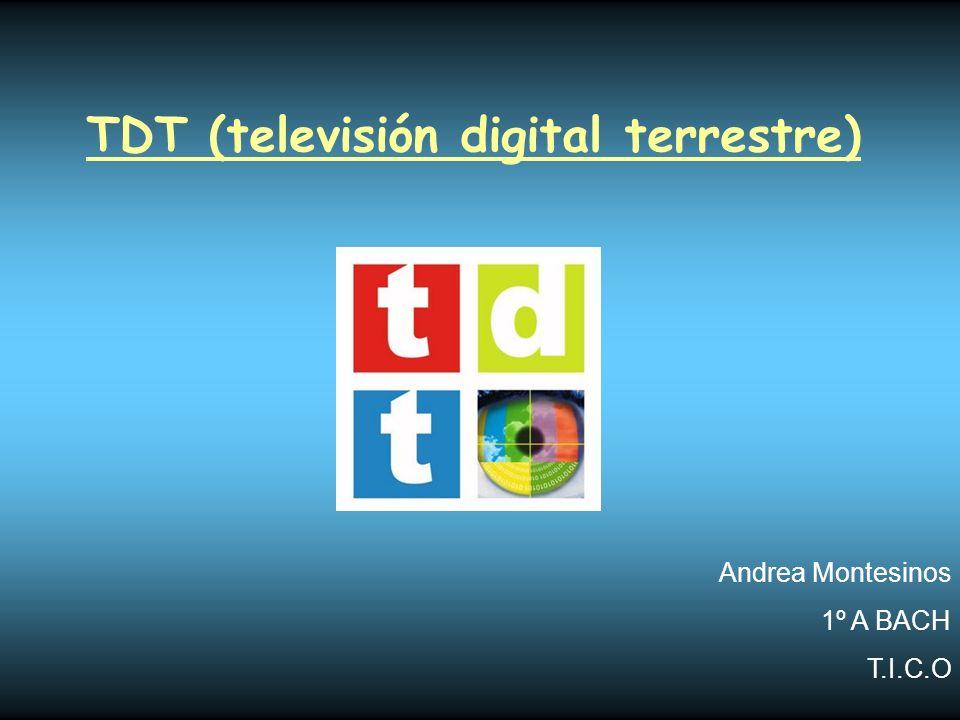 TDT (televisión digital terrestre)