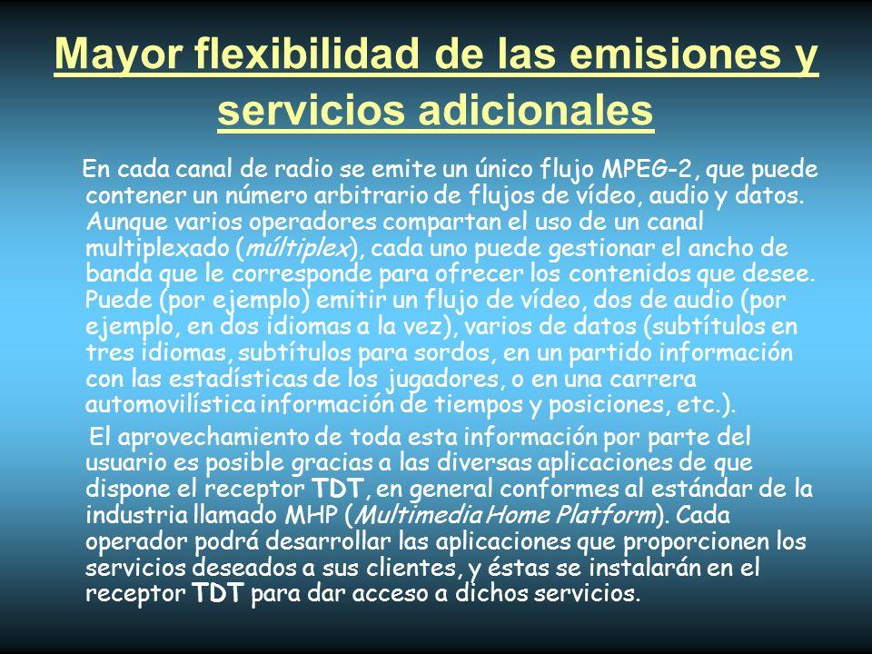 Mayor flexibilidad de las emisiones y servicios adicionales
