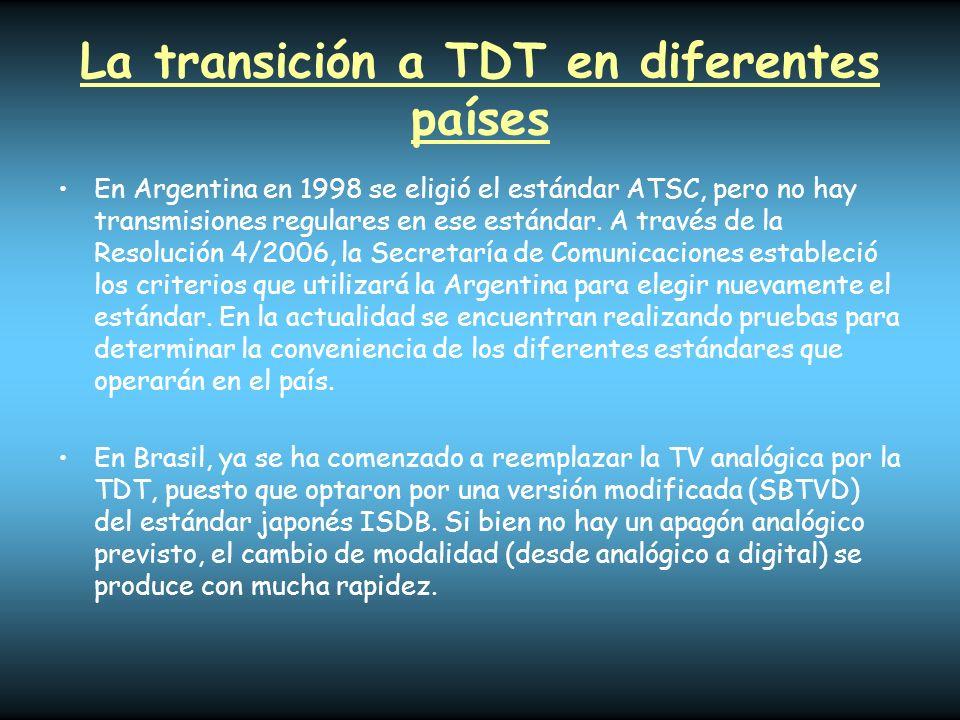 La transición a TDT en diferentes países