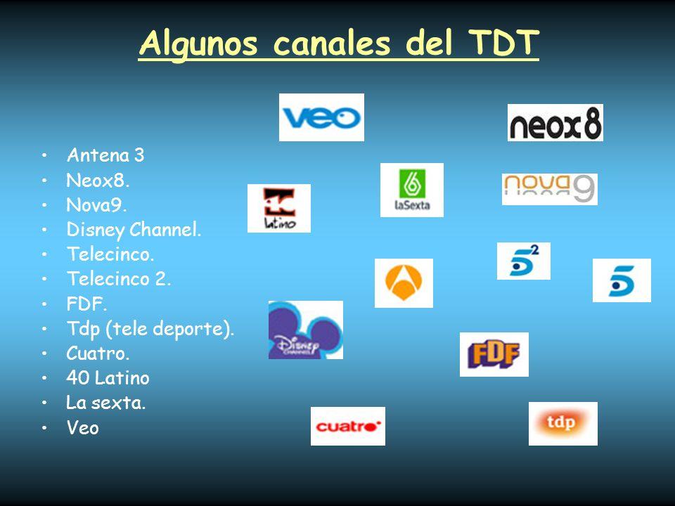 Algunos canales del TDT
