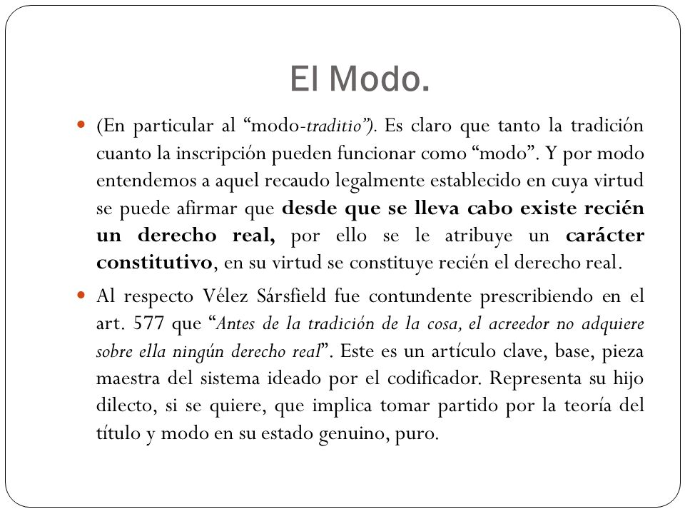 El Modo.