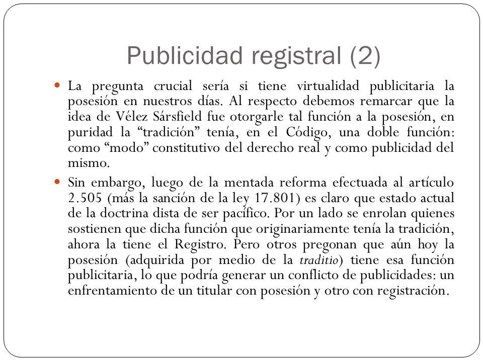 Publicidad registral (2)