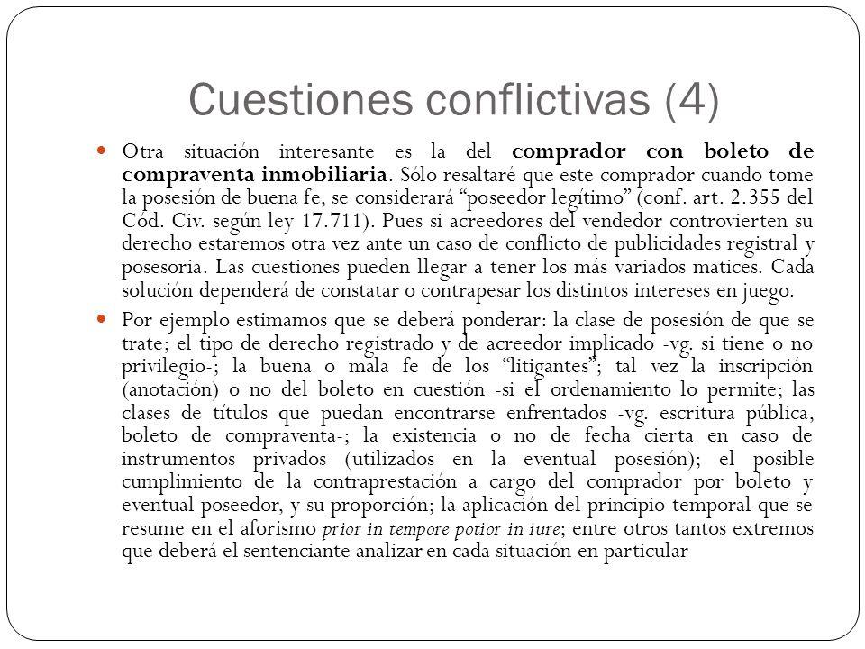 Cuestiones conflictivas (4)