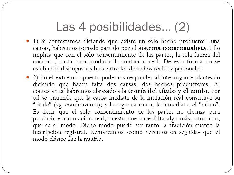 Las 4 posibilidades… (2)