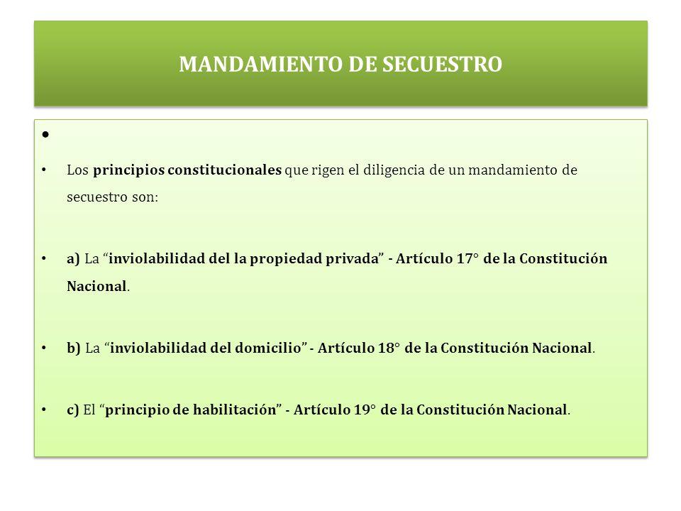 MANDAMIENTO DE SECUESTRO